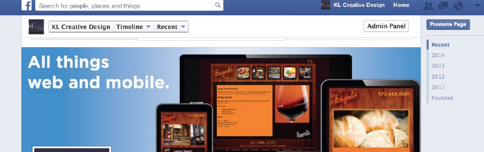 Facebook page as small business website
