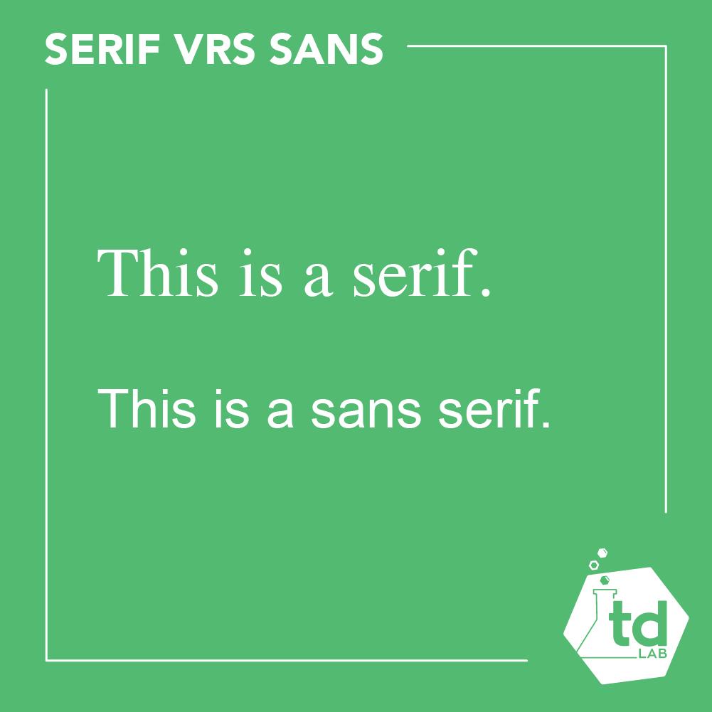 sans serif versus serif fonts