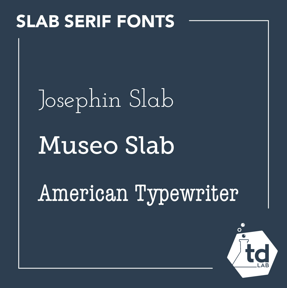 What is a slab serif font