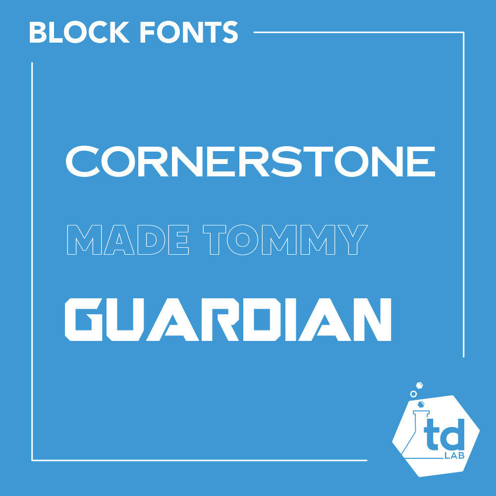 What are block fonts