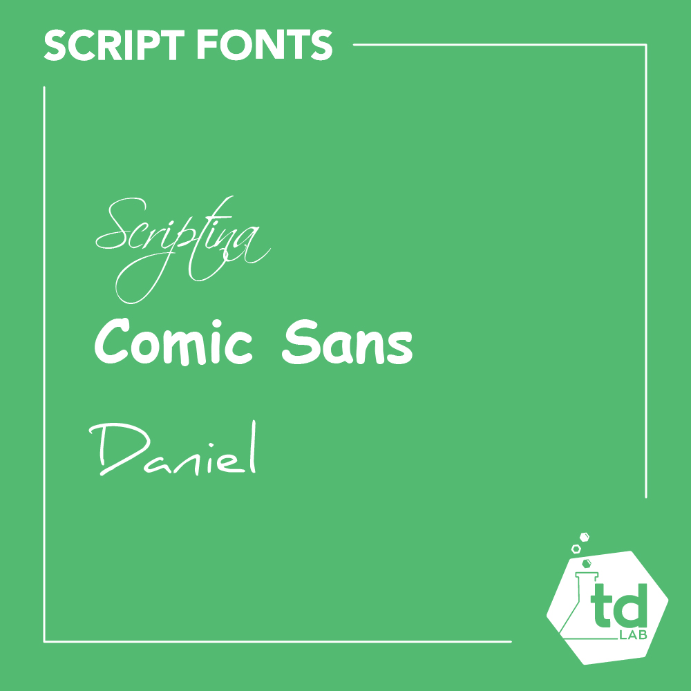 What script fonts are best for a website